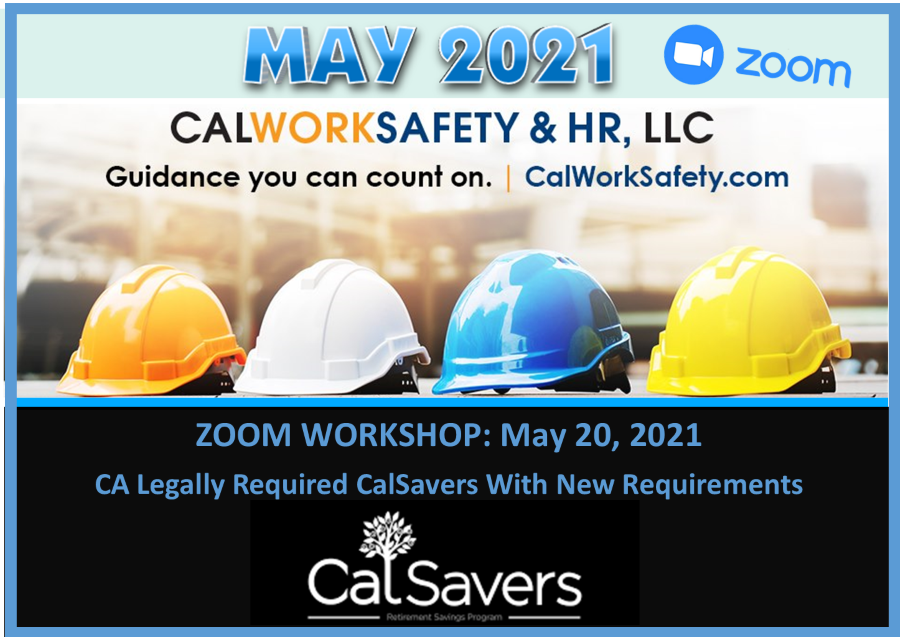 CA Legally Required CalSavers With New Requirements